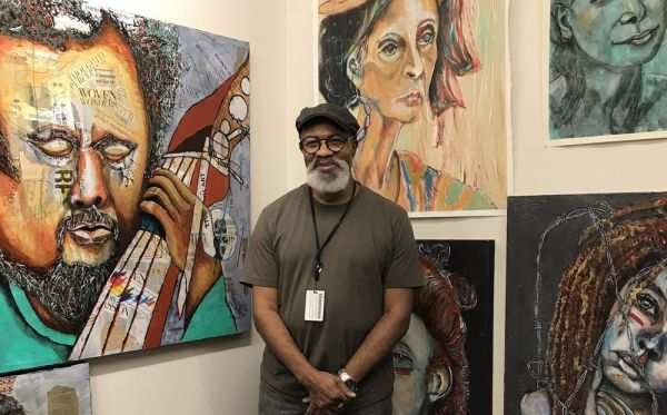 Join us for a closing reception to honor our featured artist Romeo Robinson