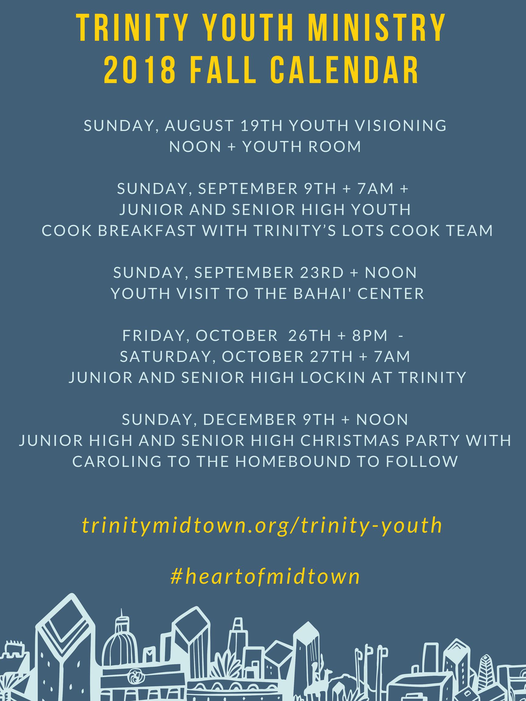 Trinity Youth Calendar